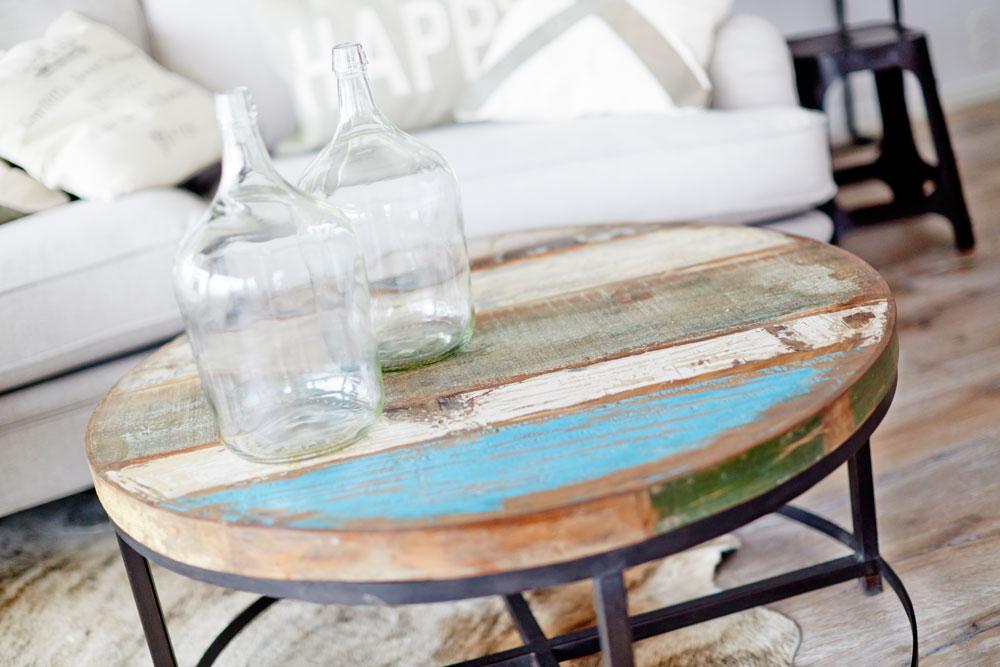 Soffbord Vintage : Runt soffbord av återvunnet trä bord myhomemyway