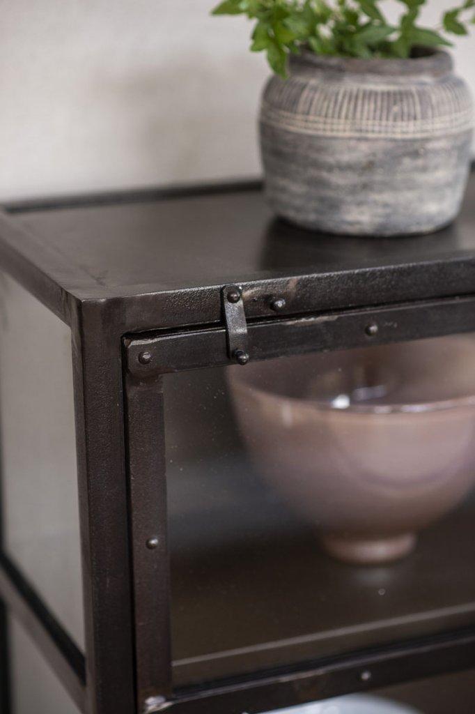 Litet Vägghängt Vitrinskåp ~ Litet vitrinskåp i metall Svart Skåp& Skänkar Förvaring Myhomemyway se
